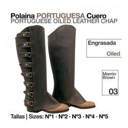 Polaina Portuguesa Cuero Engrasada zaldi el albero tienda hipica online
