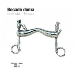 Bocado Doma Inox Hueco 219521 1 corto zaldi