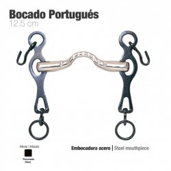 Bocado Portugués Embocadura Acero 12,5cm zaldi