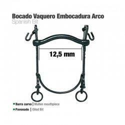 Bocado Vaquero Barra curva Embocadura Arco 12.5 cm