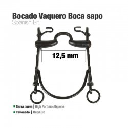 Bocado Vaquero Barra curva Boca Sapo 12.5 cm