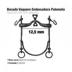 Bocado Vaquero Barra Curva Embocadura Palometa 12.5 cm