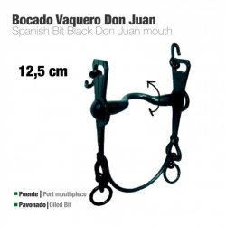 Bocado Vaquero Don Juan 2A Pavonado 12.5 cm zaldi