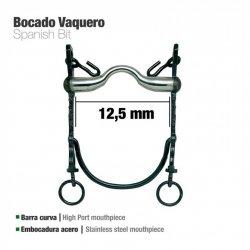 Bocado Vaquero Barra Curva Embocadura de Acero 12.5 cm zaldi