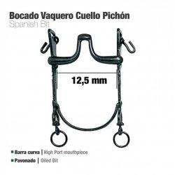 Bocado Vaquero Barra Curva Cuello Pichón 12.5 cm zaldi