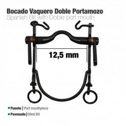 Bocado Vaquero Doble Portamozo Pavonado 12.5 cm zaldi