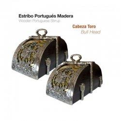 Estribo Portugués de Madera Cabeza Toro Zaldi