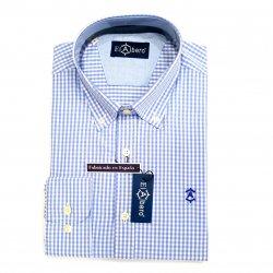 Camisa Sport Cuadro Vichy Azul