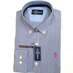 Camisa Sport Cuadro Vichy Marino