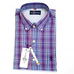 Camisa Sport Cuadros Bicolor Azules y Rojos con bolsillo