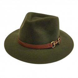 Sombrero Indiana Impermeable Verde con Filete