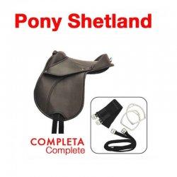 Silla Sintética Pony Shetland Completa Negra 12
