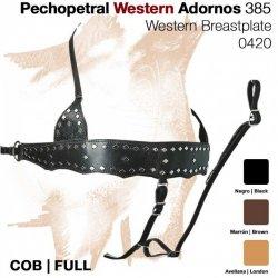 Pechopetral Western con Adornos Zaldi 385