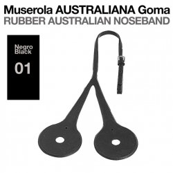 Muserola Australiana Goma Negro Zaldi