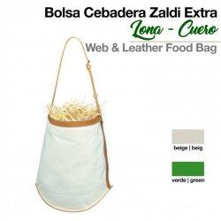 Bolsa Cebadera Zaldi Extra de Lona y Cuero