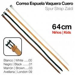 Correa Espuela Vaquera Cuero Niño 64 cm Zaldi