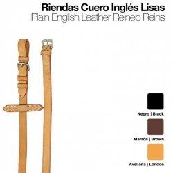 Riendas Cuero Inglés Lisas 180/0 Zaldi