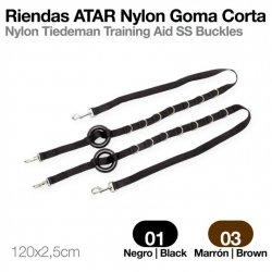 Riendas Atar Nylon Goma Negro Zaldi