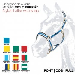 Cabezada Cuadra nylon con Mosquetón Zaldi