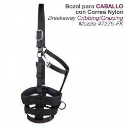 Bozal para Caballo con Correa Nylon 47245-Fk Zaldi