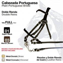 Cabezada Portuguesa Doble Rienda Negro  Ref: 210192420201