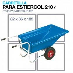 Carretilla para Estiércol S1067 191x86x82 cm 210 litros Zaldi