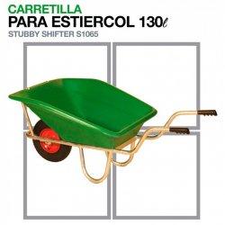 Carretilla para Estiércol S1065 Capacidad: 130Litros Zaldi