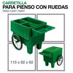 Carretilla para Pienso con Ruedas 700Fc 115x82x62 cm