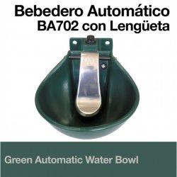 Bebedero Automático Verde BA702 con Lengüeta Zaldi