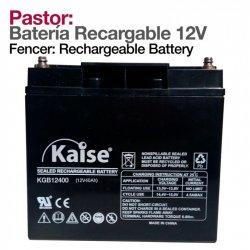 Pastor: Bateria Recargable 12V 47AV Zaldi