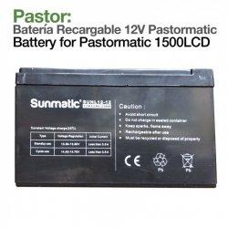 Pastor: Batería Recargable Pastormatic 1500LCD 12V Zaldi
