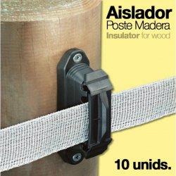 Aislador para Poste de Madera Zaldi 10 Unidades