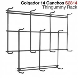 Colgador 14 Ganchos S2814 Negro