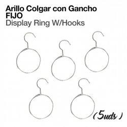 Arillo Colgador con Gancho Fijo (5 Uds) Zaldi