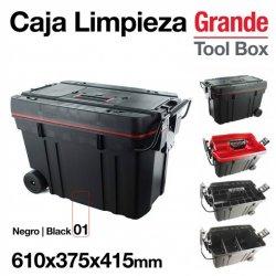 Caja Limpieza Grande 610 x 375 x 415 mm Negra Zaldi