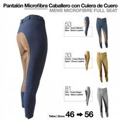 Pantalón Microfibra para Hombre con Culera de Cuero