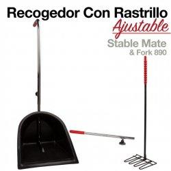 Recogedor con Rastrillo Ajustable Zaldi