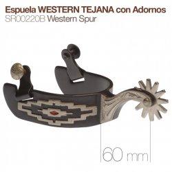Espuela Western Tejana con Adornos SR00220B