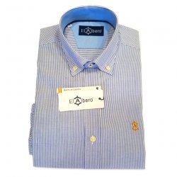Camisa Sport Oxford Rayas Azul