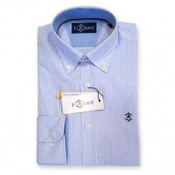 Camisa Sport Oxford Rayas Celeste