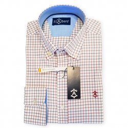 Camisa Sport Cuadros Rojo y Azul