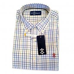 Camisa Sport Cuadros Azules y Tostado