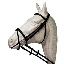 Cabezada Inglesa HH Alomada con Cierra Bocas Pony
