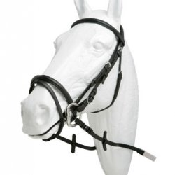Cabezada Inglesa HH Ximena Alomada con Cierrabocas Riendas Goma Pony