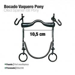 BOCADO VAQUERO B/CURVA PONY PAVONADO 10.5cm Zaldi  Ref: 210131391051