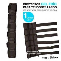 Protector Gel Frio para Tendones Largo Negro (Unidad) Zaldi