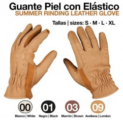 Guante Piel con Elástico 411003 Avellana