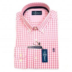 Camisa Cro Sport Cuadro Rosa