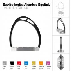 Estribo Inglés Aluminio Equality Compensado Negro