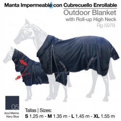 Manta Exterior Impermeable con Cubrecuello enrollable 300gr